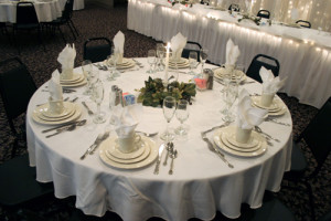 Picture of a banquet table